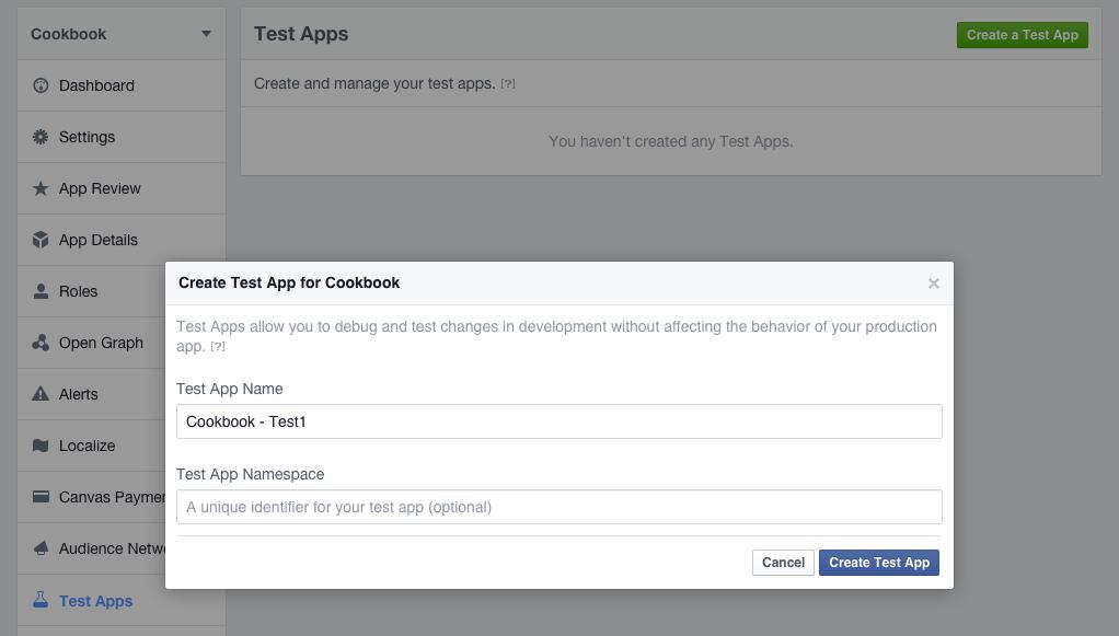Create a test app