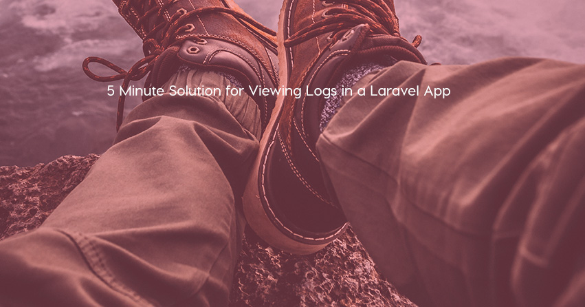 5 Minute Solution for Viewing Logs in a Laravel App