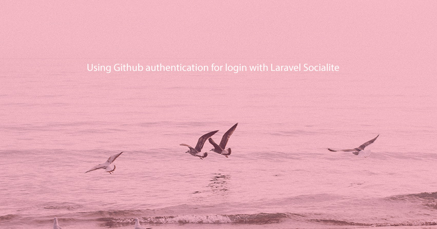 Using Github authentication for login with Laravel Socialite - Laravel 8