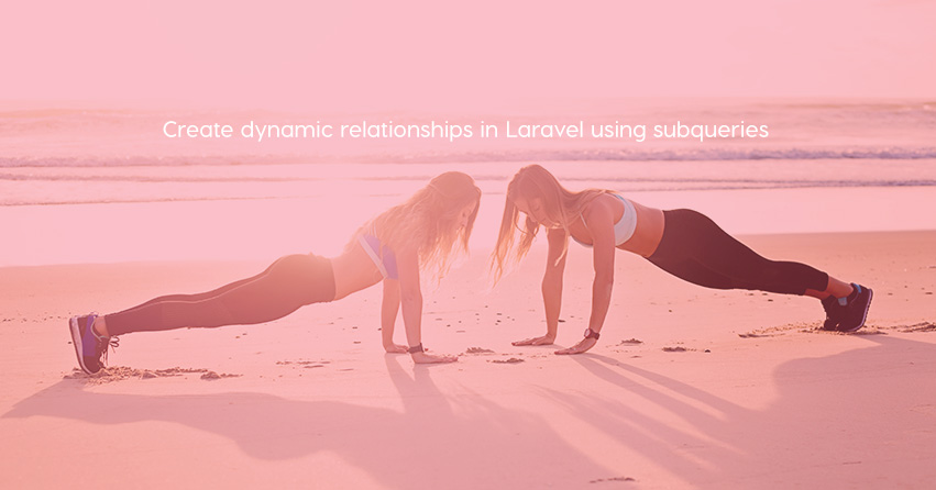 Create dynamic relationships in Laravel using subqueries