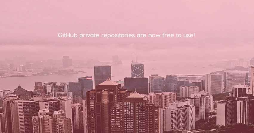 Github private repositories are now free