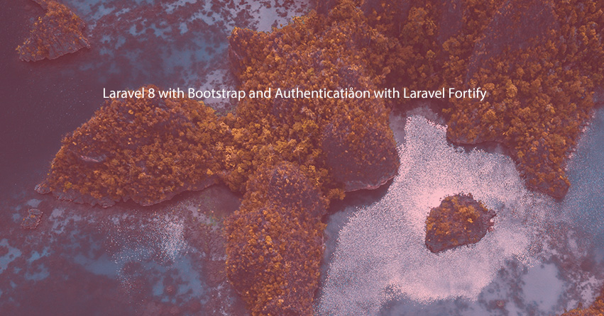 Laravel 8 with Bootstrap and Authentication with Laravel Fortify