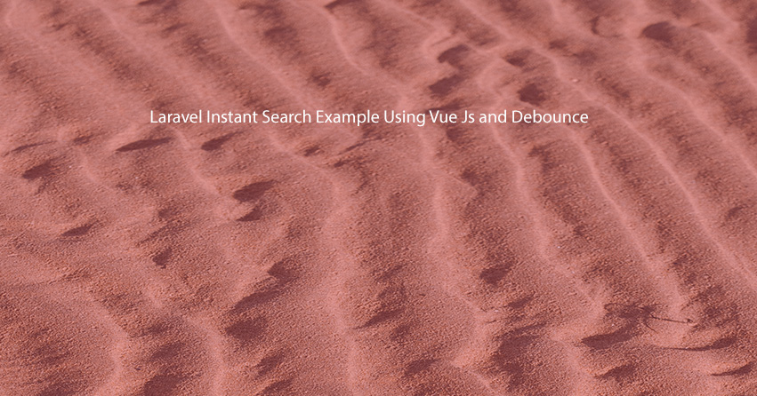 Laravel Instant Search Example Using Vue Js and Debounce