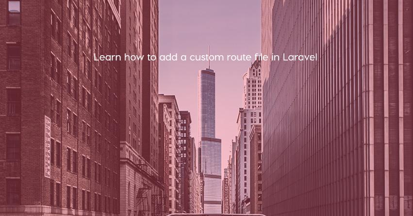 laravel custom route file