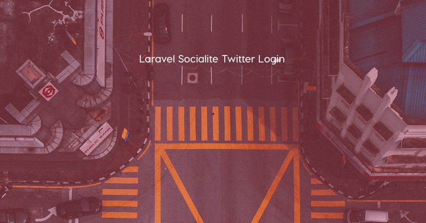 Laravel Socialite Twitter Login