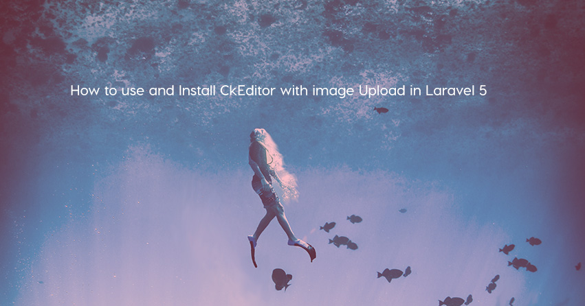 How to use and Install CkEditor with image Upload in Laravel 5