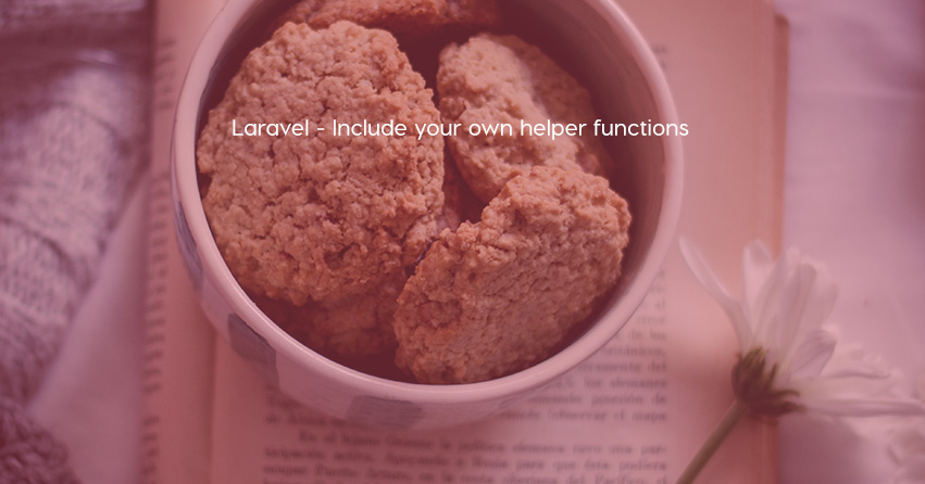 Laravel  -  Include your own helper functions