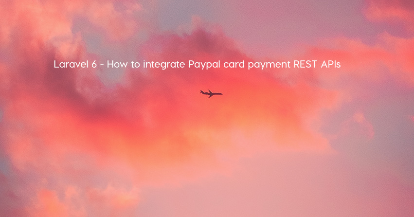 Laravel 6 - How to integrate Paypal card payment REST APIs