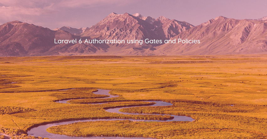 Laravel 6 Authorization using Gates and Policies