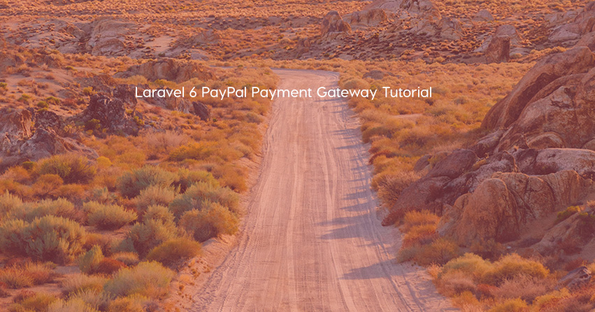 Laravel 6 PayPal Payment Gateway Tutorial
