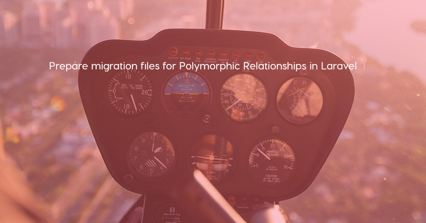 Prepare migration files for Polymorphic Relationships in Laravel