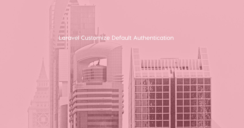 Laravel Customize Default Authentication