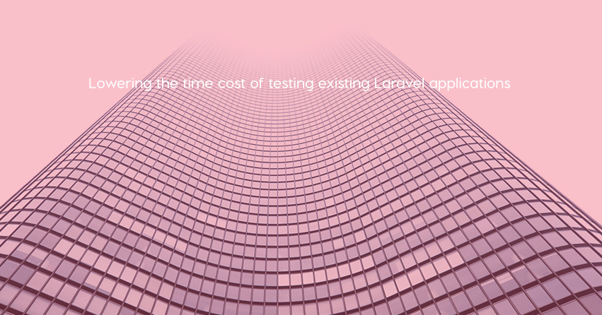 Lowering the time cost of testing existing Laravel applications