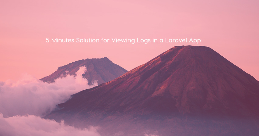 5 Minutes Solution for Viewing Logs in a Laravel App